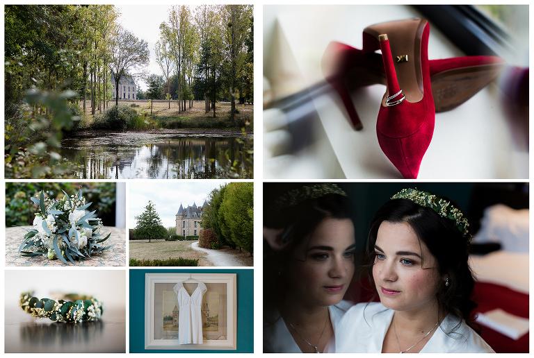 mariage d'automne au domaine de Brandois