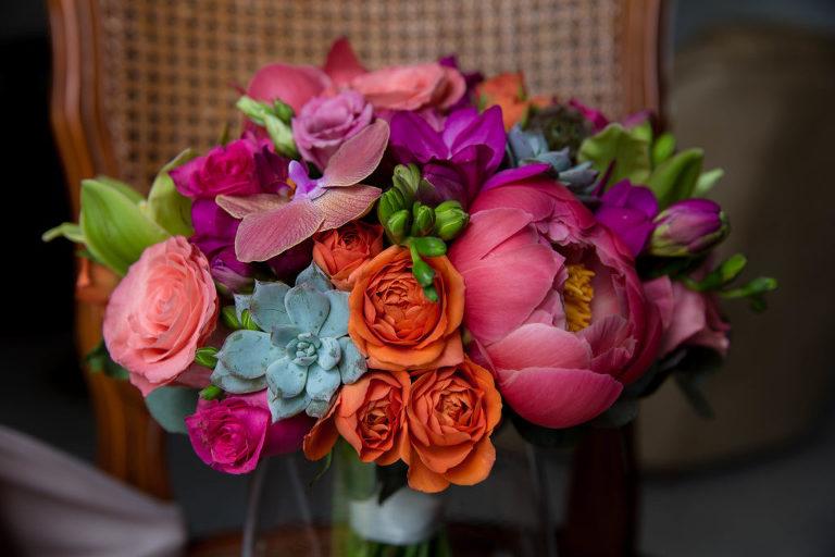 bouquet de la mariée Caroline Bouchez photographe mariage vendée