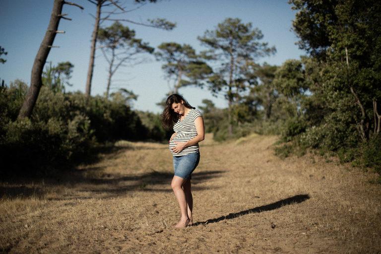 photo femme enceinte lifestyle extérieur Vendée